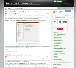 Old blog theme